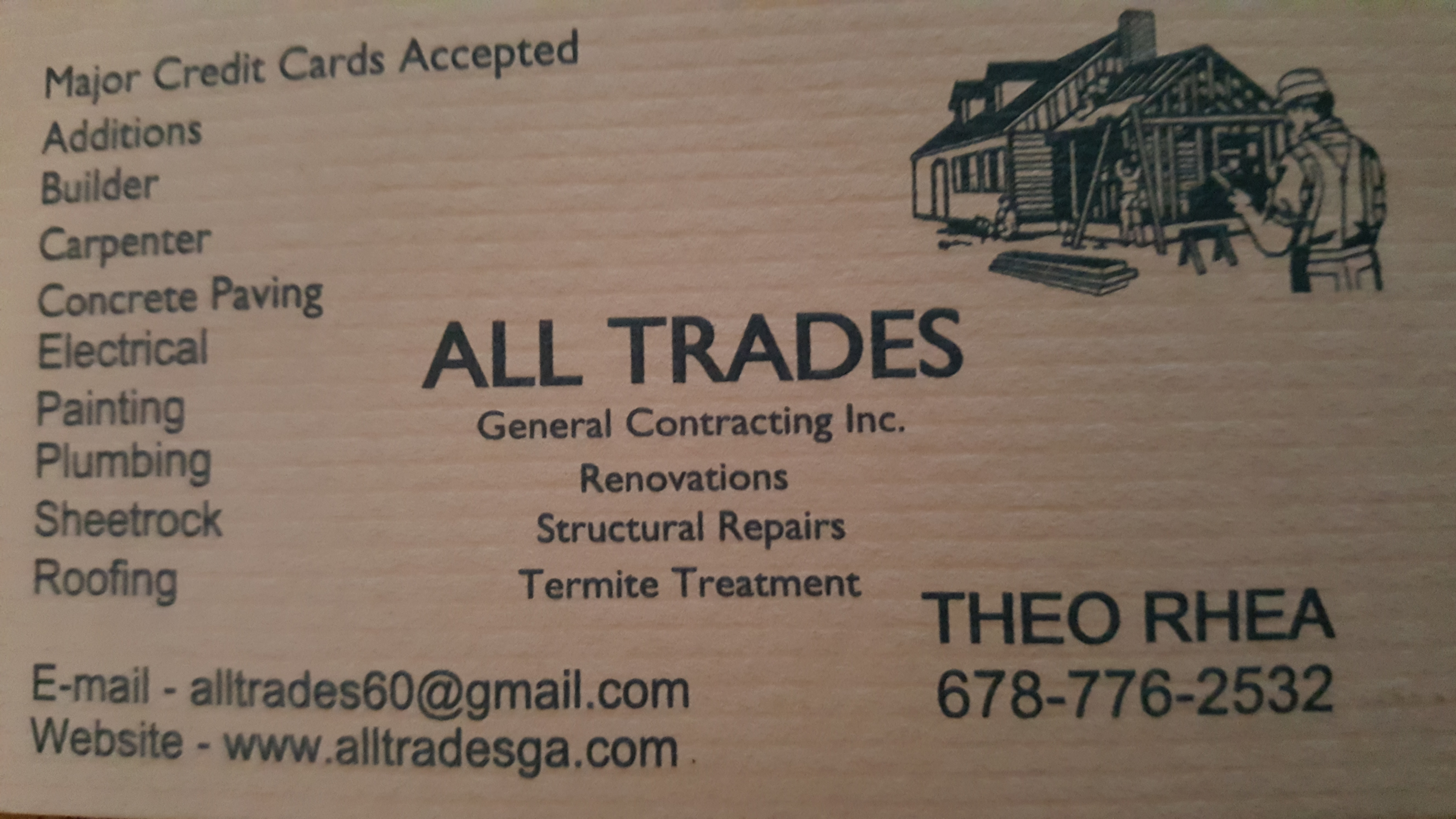 Contact All Trades General Contracting Inc